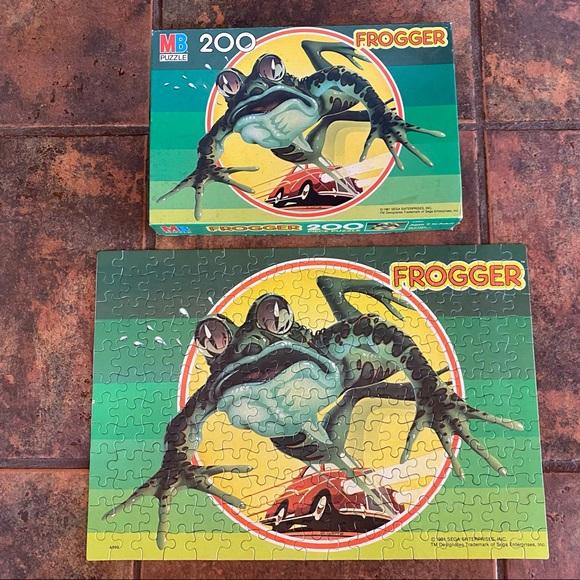 Vintage Sega Frogger Video Game Jigsaw Puzzle